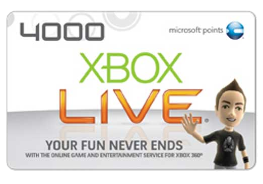 Free Xbox Live Game Card